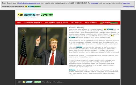 Rob McKenna for Governor Home Page