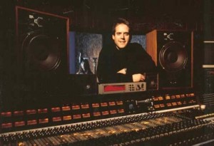 Steve Lawson poses behind the API console in Studio B at Bad Animals/Seattle