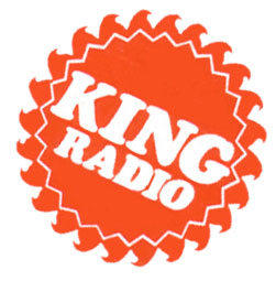 KING Radio Sunburst Logo from the 1970's